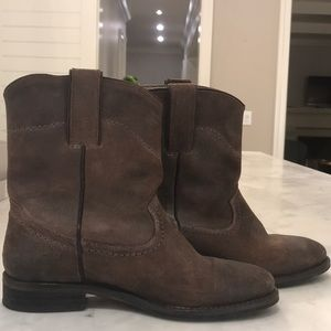 Brown Leather Boden Western Boots